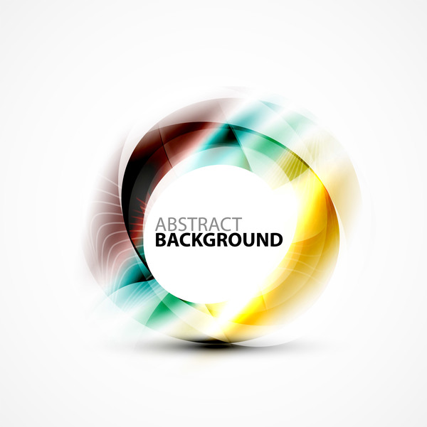Colorful circle with abstarct background art vector 14