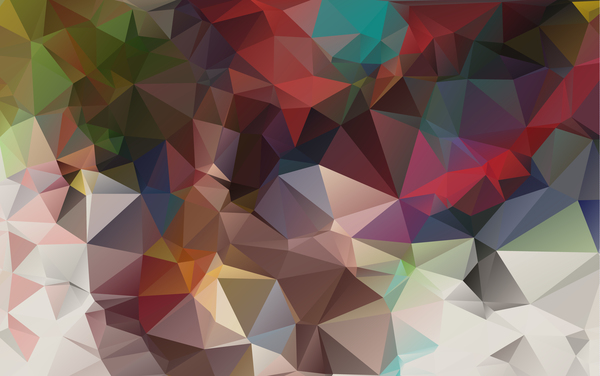 Complicated polygon geometric background vector 01