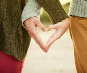 Couple loving gestures Stock Photo