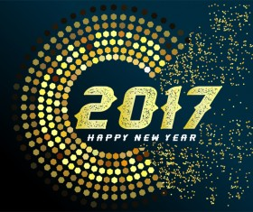 Creative 2017 new year background vectors