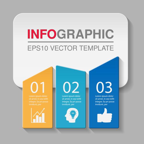 Creative numbered infographic vector template 05