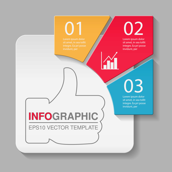 Creative numbered infographic vector template 07