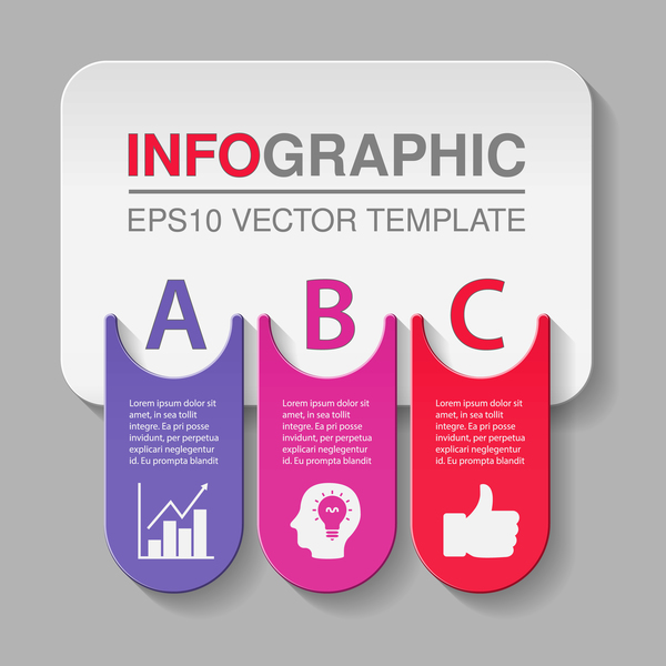 Creative numbered infographic vector template 09 - Vector Business ...
