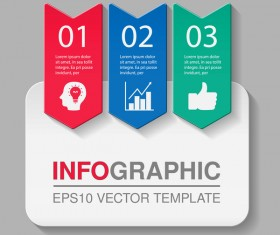 Creative numbered infographic vector template 10