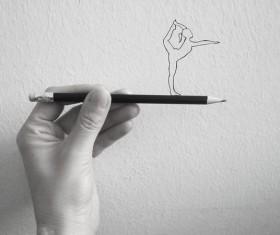 Creative pencil sketch Stock Photo