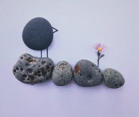 Creative stone sticker picture