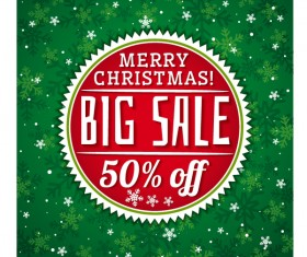 Cricle christmas big sale badge vector