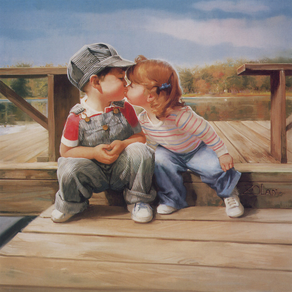 Cute children painting Stock Photo - Kids stock photo free download