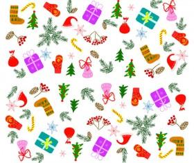 Cute christmas baubles illustration vector