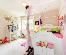 Cute pink children's room HD picture