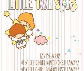 Cute twin stars font