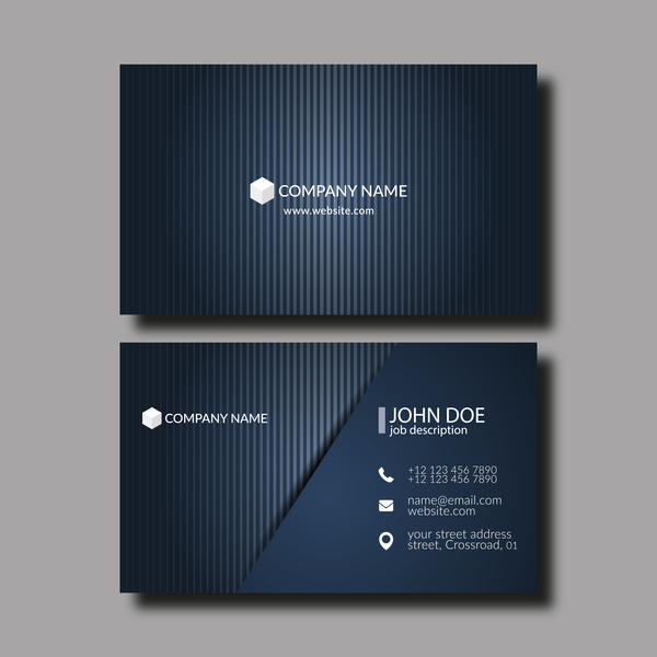 Dark blue business card template vector 01 free download dark blue business card template vector 01 reheart Image collections