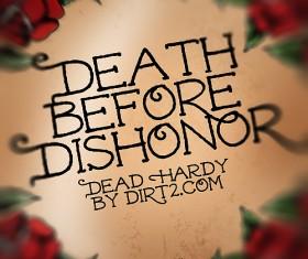 Dead Hardy Hardy font pack