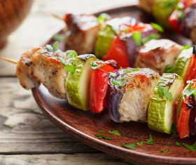 Delicious delicious skewers of vegetables