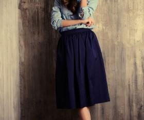 Denim clothing beautiful woman Stock Photo 04