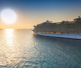Different Cruise Ships Stock Photo 02
