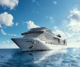 Different Cruise Ships Stock Photo 03