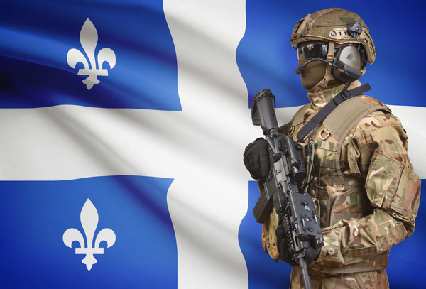 Different flags and armed soldiers Stock Photo 11