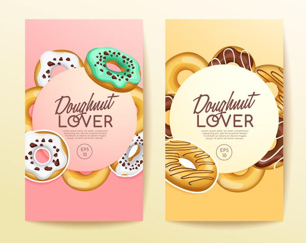 Doughnut cover brochure design vector