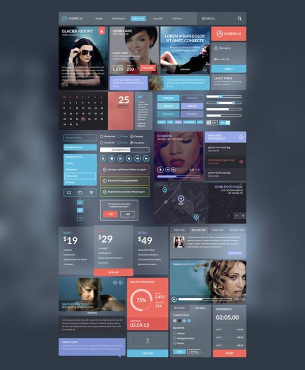 Dream flat APP interface PSD material