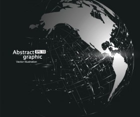 Earth and technology abstract vector illustration 02