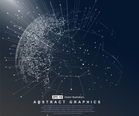 Earth and technology abstract vector illustration 06