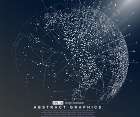 Earth and technology abstract vector illustration 07