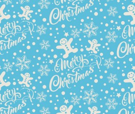 Elegant christmas pattern template seamless vector 01