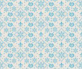 Elegant christmas pattern template seamless vector 08