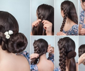 Fashion female hair styling HD pictures 02