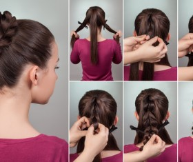 Fashion female hair styling HD pictures 05