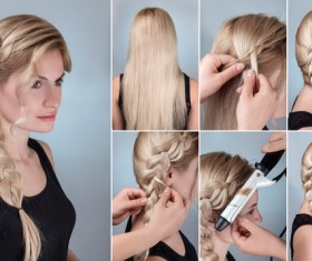 Fashion female hair styling HD pictures 10