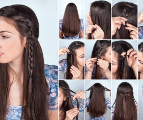 Fashion female hair styling HD pictures 14