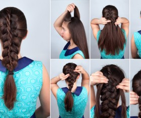 Fashion female hair styling HD pictures 15