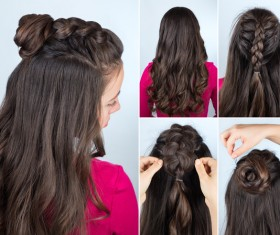 Fashion female hair styling HD pictures 47