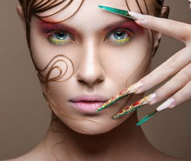 Fashion make-up Stock Photo
