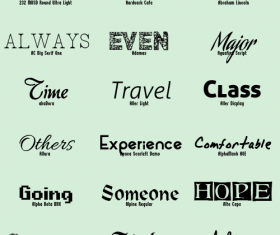 Fashion modern fonts pack