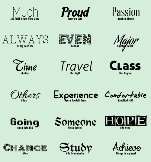 Download Fashion modern fonts pack - Other Font free download