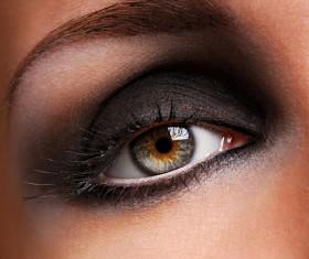 Fashion smoked makeup Stock Photo