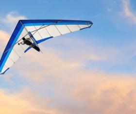 Flight of the sliding machine Stock Photo