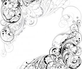 Floral design ornaments vector material