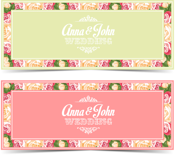 Flower wedding invitation card vector template free download flower wedding invitation card vector template stopboris Choice Image