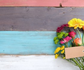 Flower with wooden table HD picture