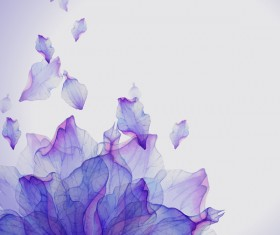Flying purple petals HD picture