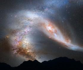 Galaxy Andromeda Galaxy Stock Photo