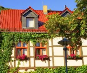 German rural houses Stock Photo
