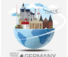Germany travel vector template
