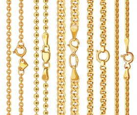 Golden chains with clasp vector