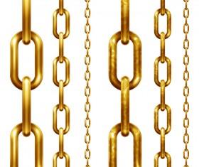 Golden metal chains vector
