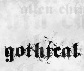 Gothical free font